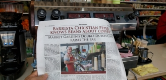 newspaper article about Christian Peper