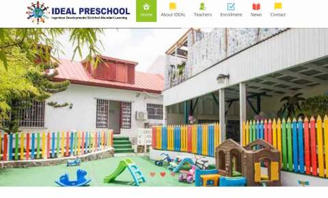 preschool with colorful playground